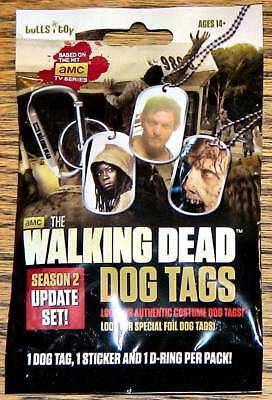 WALKING DEAD DOG TAGS Season 2 Update (2013 TV Show)--Unopened Pack (s)^