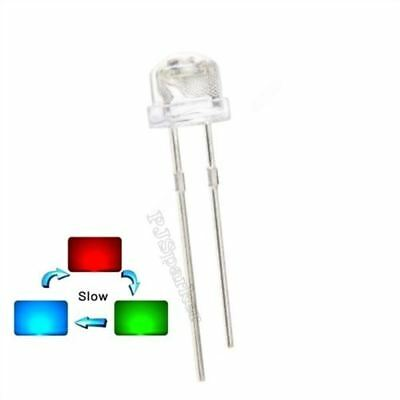 50Pcs 5Mm Straw Hat Rgb Red Green Blue Light Emitting Led Lamp Slow Flashing ie