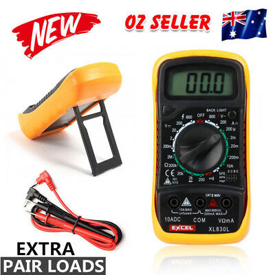 New Digital Multimeter XL830L Volt Meter Ammeter Ohmmeter Yellow Tester 2018 Tt