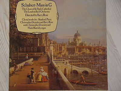 Vinyl LP London Bach Orchestra SCHUBERT Mass in G St. Pauls Cathedral Chor