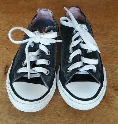 Converse Kids Shoes  Size Uk 11  Vintage Black