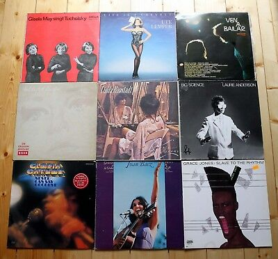 18 LP SAMMLUNG ROCK POP FRAUENPOWER female voices GRACE JONES knef KATE BUSH ..