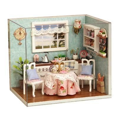Doll House Miniature DIY Kit Dolls Toy House W/ Furniture LED Light Box Gift