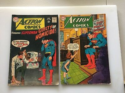 ACTION COMICS...DC..VINTAGE..12 Cents...1967...RARE ...SILVER AGE...LOT OF 10
