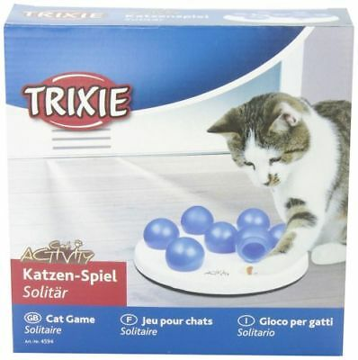 Trixie Cat Activity Solitaire Treat Dispenser Puzzle Game Cat Toy Fun Play Treat