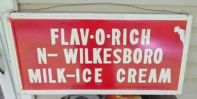 Flavorich Milk Ice Cream Sign North Wilkesboro Flav-o-rich Sign N Wilkesboro