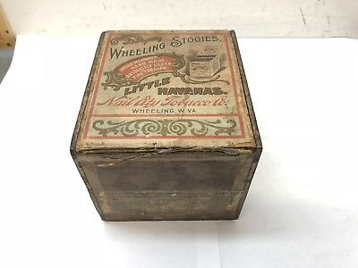 Early 1900's Wheeling Stogies Nail City Tobacco West Virginia Cigar Box
