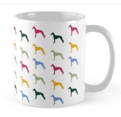 Whippet Greyhound lurcher dog lovers Mug cup gift rescue, racing gifts present