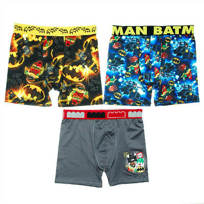 LEGO Boys 3-Pack Lego Batman Print Boxer Briefs Size 8 NEW