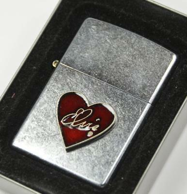 ZIPPO Elvis Heart Lighter Street Chrome 2003, Unused, NIB