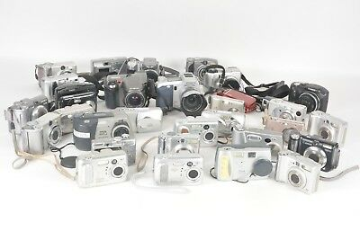 AS IS Lot of 32 Assorted Digital Cameras Fujifilm A310, Kodak CX6230 and more