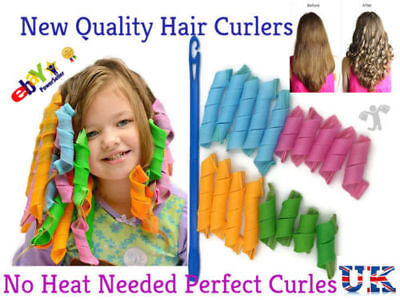 18 Pcs New Quality Hair Curlers Spiral Twist Roller Styling Tool DIY