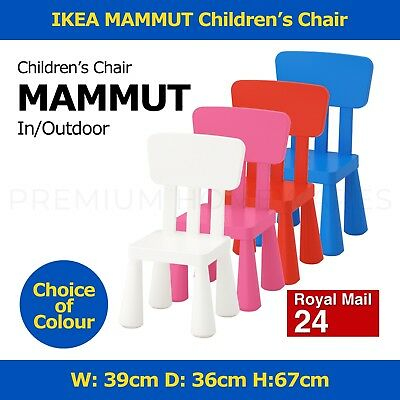 IKEA MAMMUT Children's Outdoor Plastic Chair (39x36x67cm)