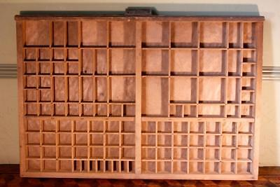 Vintage Art Deco Radiguer French Wooden Printers Tray Letterpress Type Display G