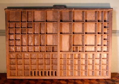Vintage Art Deco Radiguer French Wooden Printers Tray Letterpress Type Display I