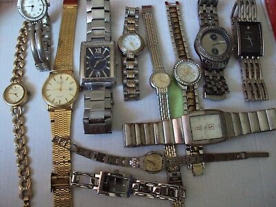JobLot of old used watches for spares,repair or scrap great lot W2-21-5
