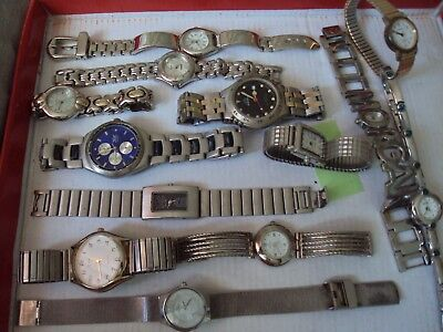 JobLot of old used watches for spares,repair or scrap great lot W4-21-5