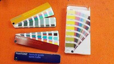 Pantone Color Formula Guide-3 Guides-Solid Coated,Solid Uncoated and Solid Matte