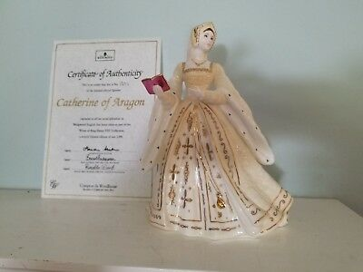 Wedgwood, King Henry VIII wife, Catherine of Aragon, limited edition gold detail