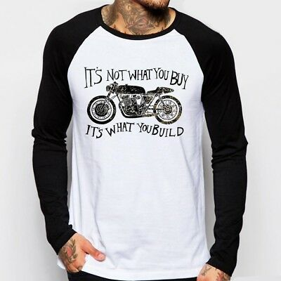 Cafe Racer it's what you build classic Motorcycle triumph enfield t-shirt OZ9159