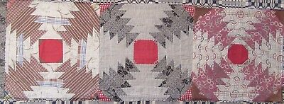 Antique Pineapple Quilt Blocks For Primitive  Tablerunner      Prim  #8