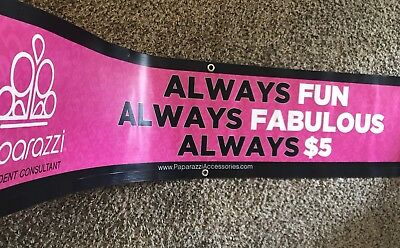 """Paparazzi Accessories Display Banner 12"""" X 5' For Vendor Events"""