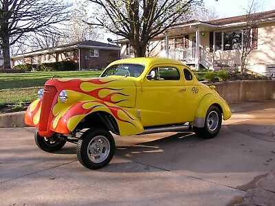 1937 Chevrolet COUPE  1937 Chevy gasser hot rod rat rod street rod rat rod chopped top custom coupe