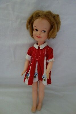 "1963 DeLuxe Reading Penny Brite in Red Dress- Vinyl, 8"",Blond-CUTE DOLL- SALE"