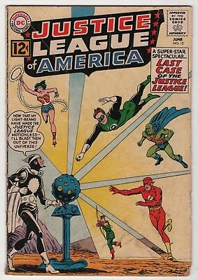 Justice League of America #12 solid 1962 DC Flash Wonder Woman create-a-lot