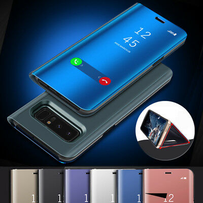 For Samsung Galaxy Note 8/5/4 Smart Mirror Leather View Flip Stand Case Cover