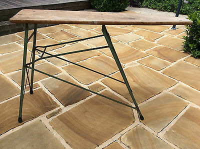 Antique Australian Timber Metal Ironing Board - All original