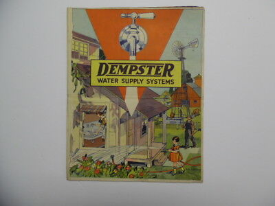 c.1928 Dempster Farm Water Supply System Catalog Brochure Beatrice NE Vintage