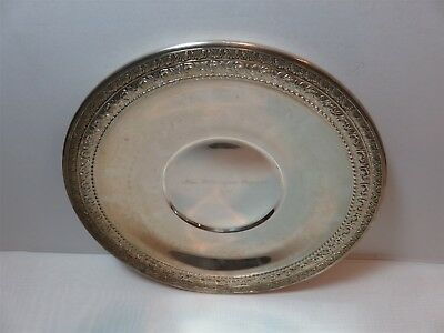 "Wallace 5120 10 3/4"" Decorative Edge Silverplated Plate 1971 Wilmington Pageant"