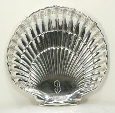 Large Antique GORHAM Sterling Silver Serving Tray. Scallop Shell Repousse RARE