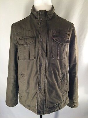 Levi's Strauss Green Quilted Cargo/bomber Jacket  Men's Size L