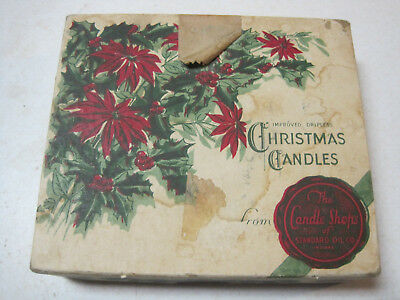 Antique Vintage Standard Oil Company Improved Dripless Christmas Candles box