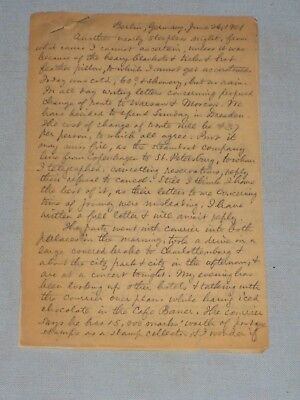 1901 Hand Written European Trip Diary 30 Loose Pages Germany Russia Norway