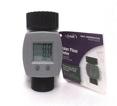 Orbit Water Flow Meter Direct Fit To Hose Bib Spout - Help Conserve Water