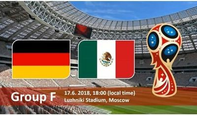 Germany vs Mexico  FIFA World Cup Russia 2018, price for 1 Ticket - Category 2.