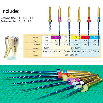 Dental X6 Heat Activated Niti Endodontic Root Canal File For Machine Blue 25mm