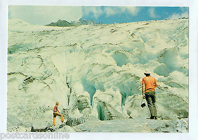 D0443cgt New Zealand Fox Glacier Ice Face postcard