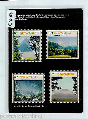 C5343ryt New Zealand Stamp Postcard Card #5 postcard