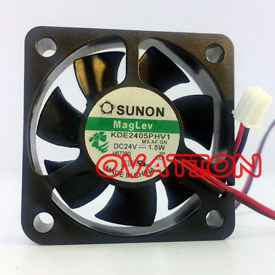 For 1pc SUNON KDE2405PHV1.MS.A.GN.fan 50*50*15mm 24V 1.5w 2pin