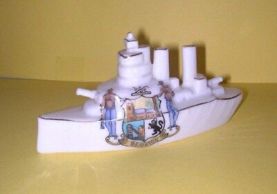 Swan Crested China WW1 HMS Elizabeth  Beighton Crest