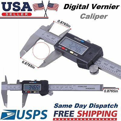 Electronic Digital Gauge Stainless Steel Vernier 150mm 6inch Caliper Micrometer