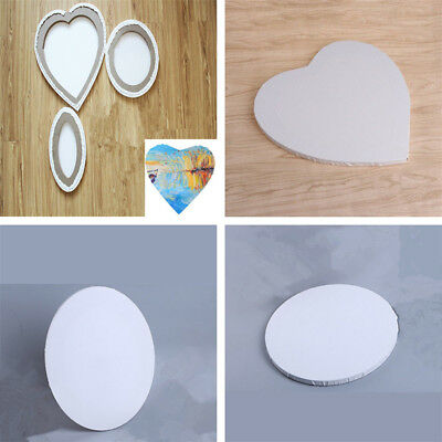 Round Heart Wood Framed Blank Stretched Art Cotton Canvas Oil Painting Boards