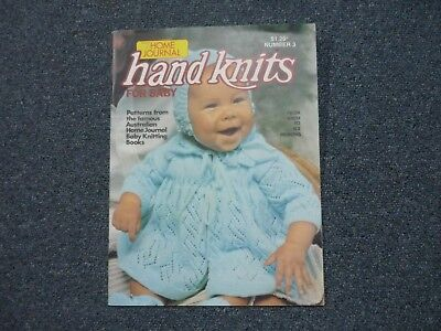Retro Vintage Home Journal Knitting Pattern Book ~ Handknits For Baby 0 - 6 Mths