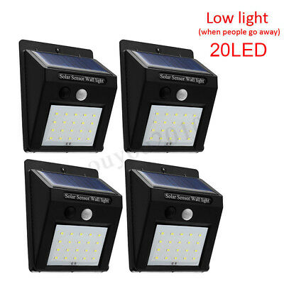 20 LEDs Solar Power PIR Motion Sensor Wall Light Outdoor Garden Lamp Waterproof