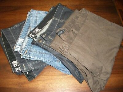 Big Mens Jack Stone Jeans And Dress Pants 4 Pairs 122/127Cm Very Good Condition.