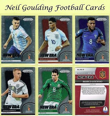 Panini PRIZM World Cup 2018 ☆☆ NEW ERA ☆☆ Football Insert Cards #1 to #25